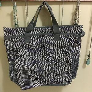 Thirty-one crossbody tote - purple and gray